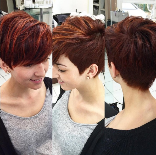 Stylish Hairstyle Color for Short Hair - Pixie Haircut