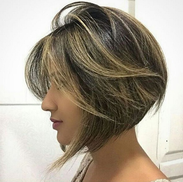 Stylish Short Bob Hairstyle Straight Haircuts 2016
