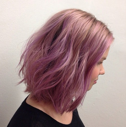 Try A New Pastel Tone for Bob Hairstyle - Long Bob 2016