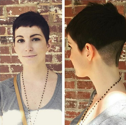Very Short Hairstyle - Shaved Haircut for Women Short Hair