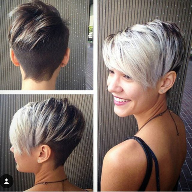 hair colour ideas for short hair 2015. two tone pixie haircut for short hair colour ideas 2015 0