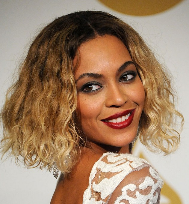 Beyonce Short Ombre Curly Bob Cut Popular Haircuts