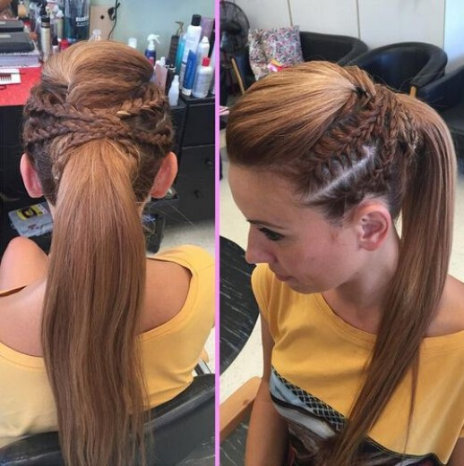 Braid with Ponytai - Cute Long Hairstyles