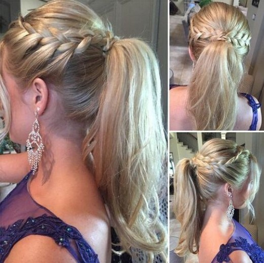 Cute French Braid Ponytail Hairstyle for Girls - Prom Hairstyle Ideas