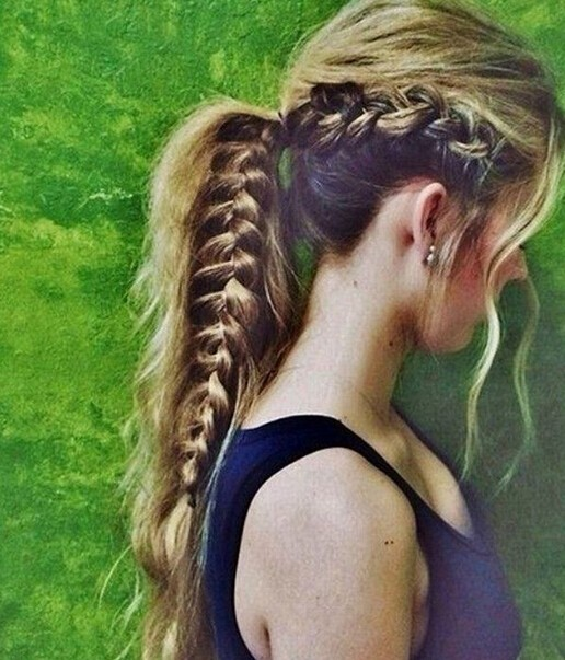 15 Adorable French Braid Ponytails For Long Hair Popular
