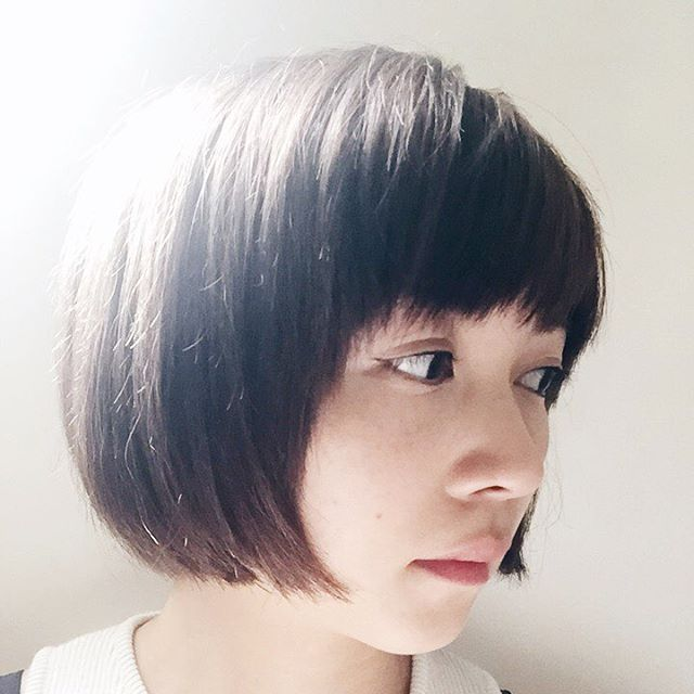 Cute rounded short bob haircut for girls
