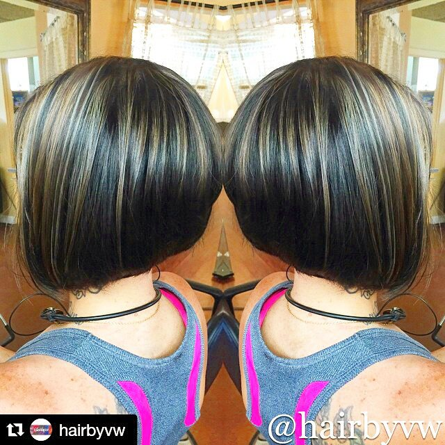 Cute short Stacked Bob Haircut