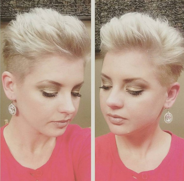 Easy Short Pixie Haircut for Round Faces