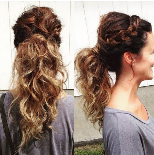 French Braid Ponytail Hairstyle for Long Hair - Women Long Hairstyles