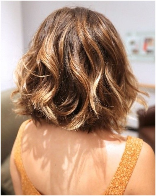 Highlighted bob cut for thick hair