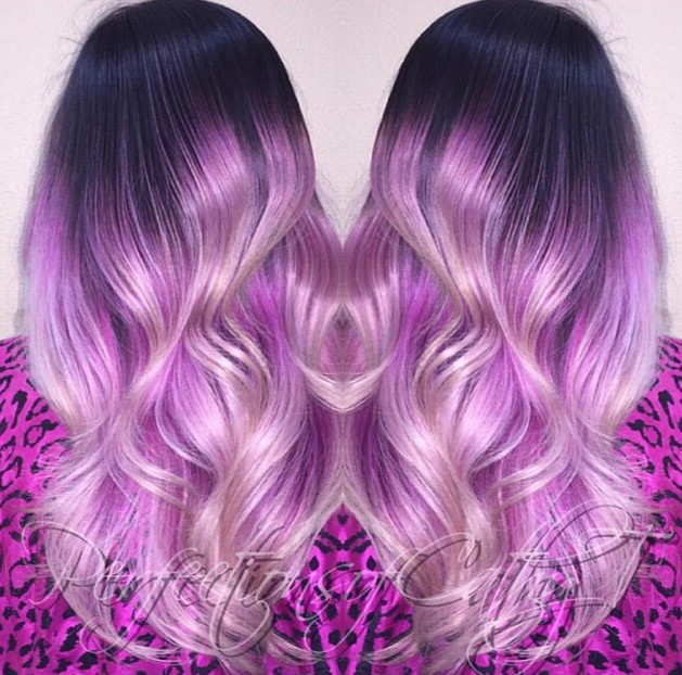 gorgeous pastel purple hairstyle ideas balayage hair