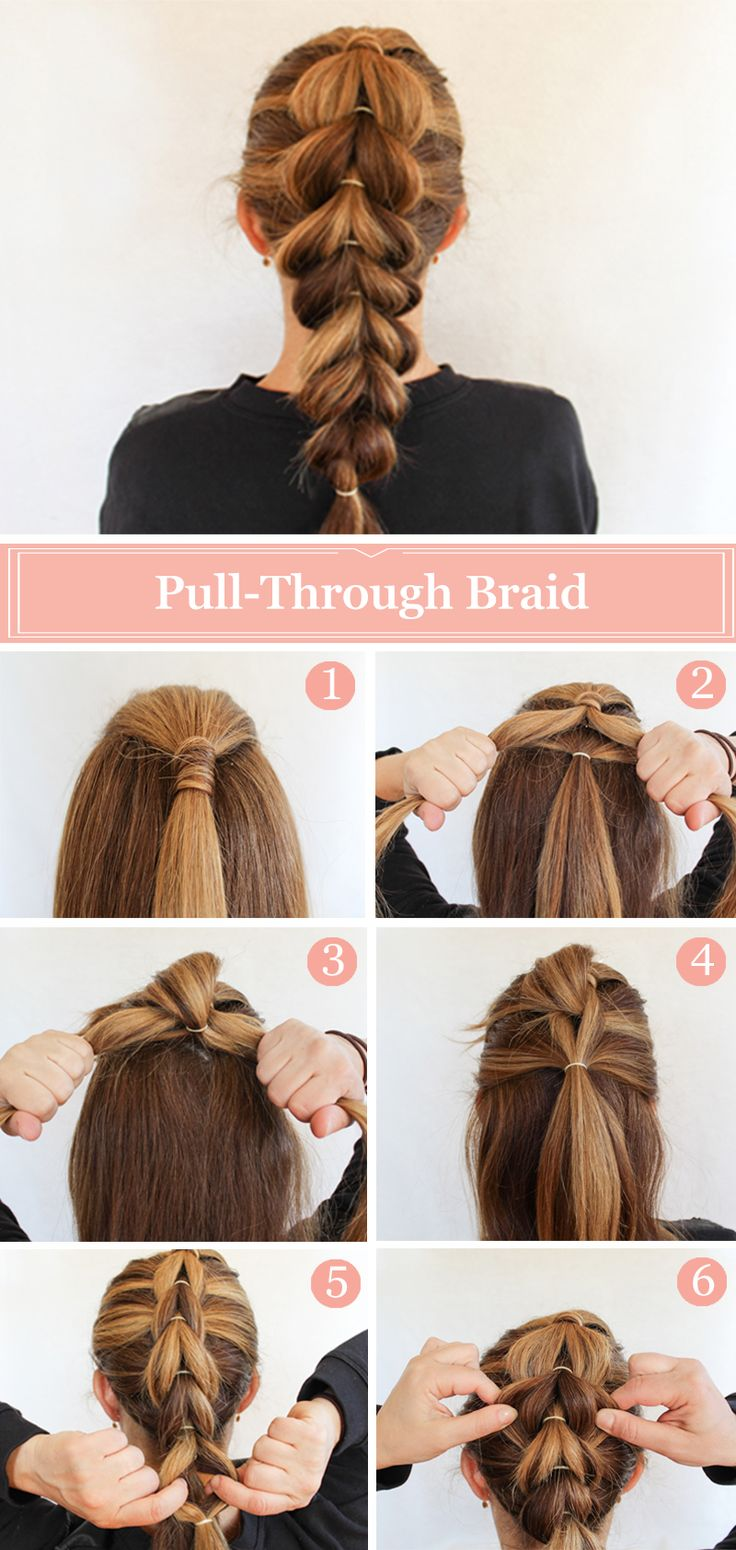 Pull Through Braid Hairstyle Tutorial