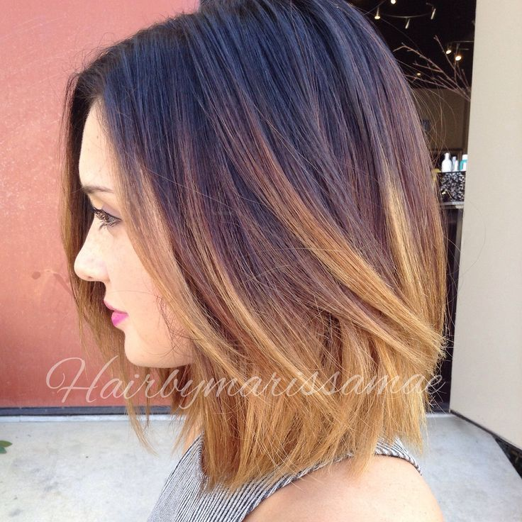 Short Dark To Blonde Ombre Hair Popular Haircuts