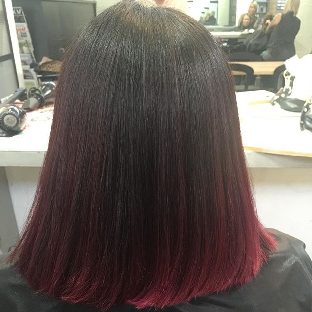 short straight ombre bob cut