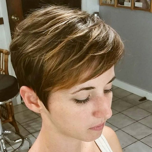 cute layered pixie cut