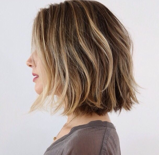 Choppy shoulder length haircuts