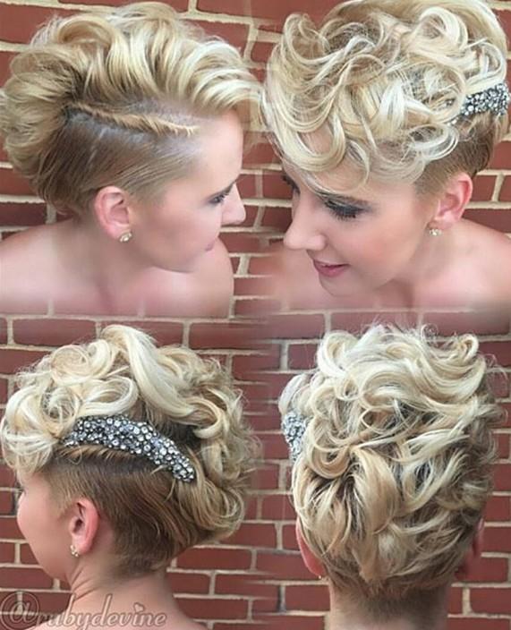 long curly pixie cut
