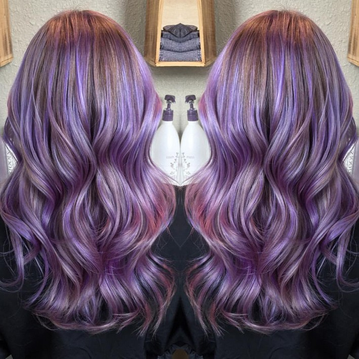 Gorgeous pastel purple hairstyle ideas balayage hair styles long wavy pastel purple hairstyle pmusecretfo Image collections