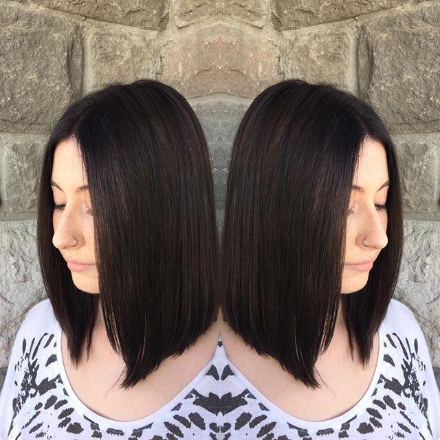 medium length hair ideas - the long a-line bob cut