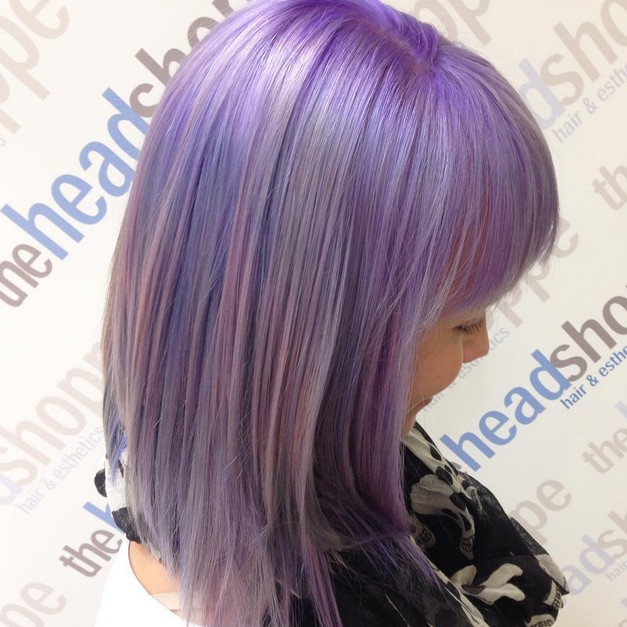 Gorgeous Pastel Purple Hairstyle Ideas: Balayage Hair