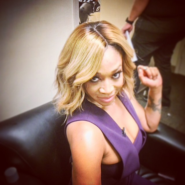 messy blonde ombre wavy bob hairstyle for black women