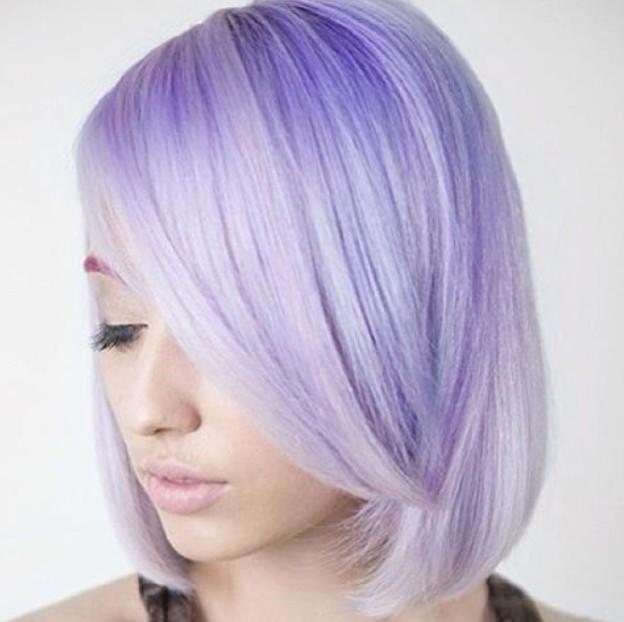 Wunderschöne Pastell Lila Frisur Ideen: Balayage Frisuren Designs