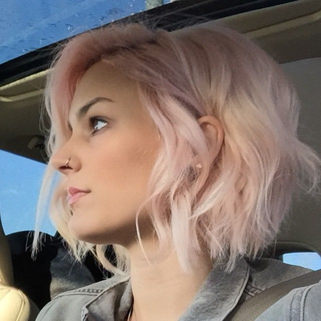 Short Pink Bob Haircut Popular Haircuts
