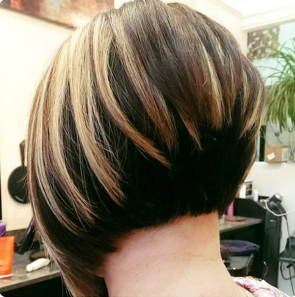 Stacked Short Layered Bob Hairstyles 36