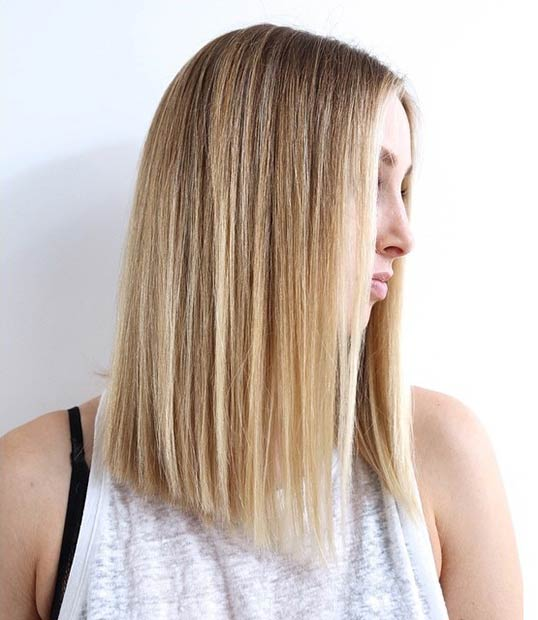 straight a-A-line bob hairstyle - lob