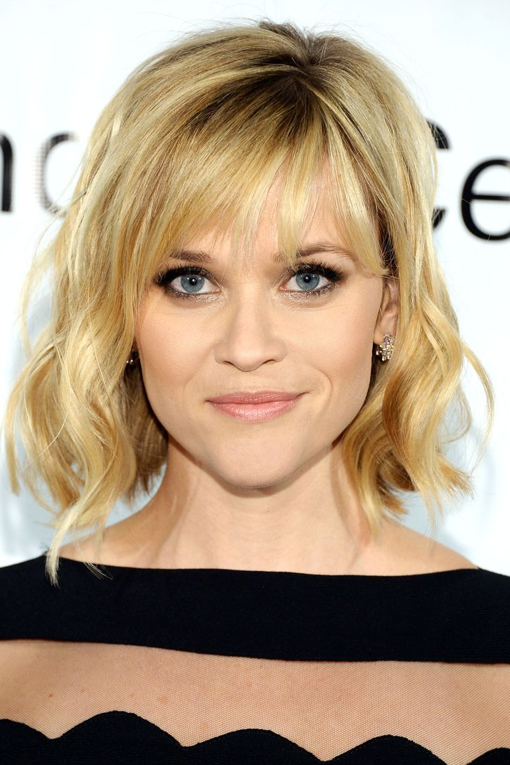 Short Hairstyles With Bangs and cool hair color