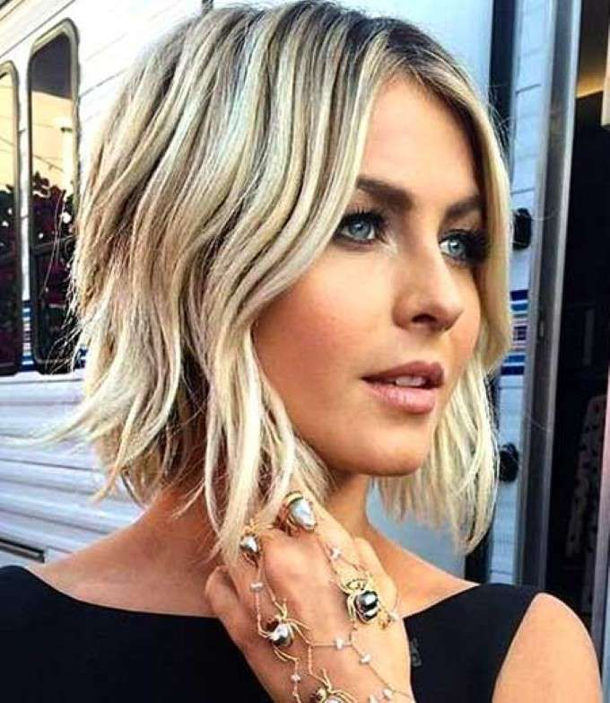 Chic short blonde wavy bob haircut for female