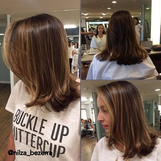 Layered bob hair style for shoulder length hair
