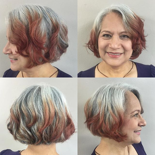 Layered short A-line Bob Haircut for women over 50