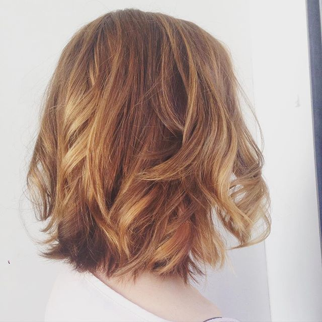 Messy Bob Hairstyle with layers