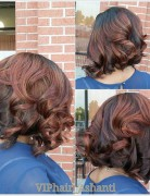 Red-dark-Messy-Bob-Hairstyle-for-black-women