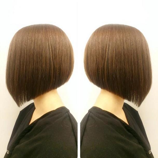 Schöne und bequeme abgewinkelte Bob Haarschnitte