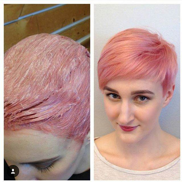 chic short pink pixie cut for fine thin hair