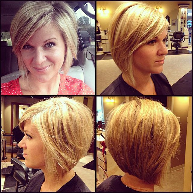 bob haircut with bangs and layers 21 layered bob hairstyles popular haircuts 5640