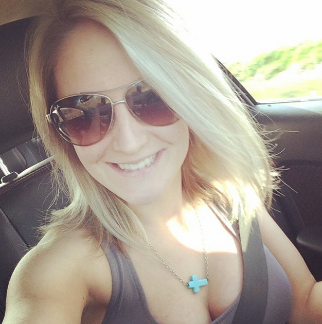 medium blonde bob hairstyle with glasses
