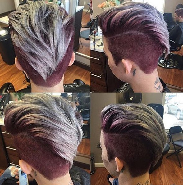 360 Pixie Haircut View Shaved Short Hairstyle For Thick Hair