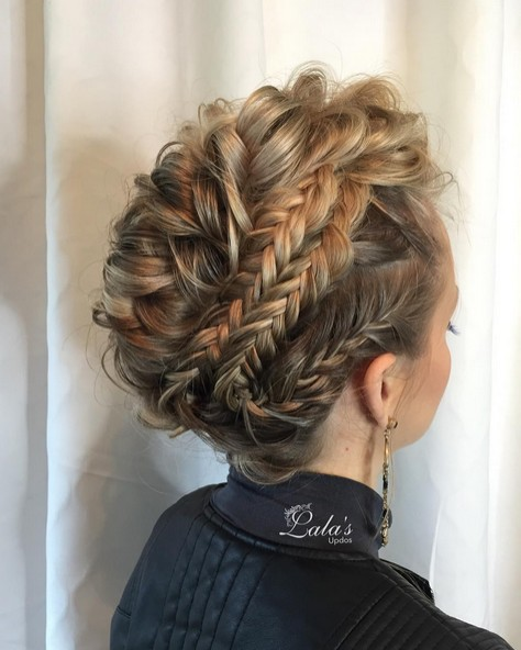 Amazing Prom Hairstyle for Medium, Long Hair - Braid Updos