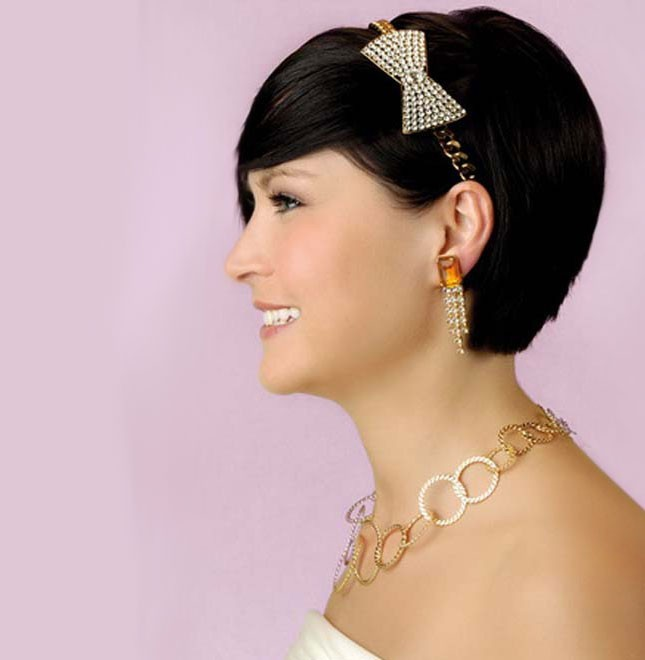 Hairstyle Wedding : ... Wedding Hairstyles Decoration Ideas with Short Hair - Pixie Hairstyle