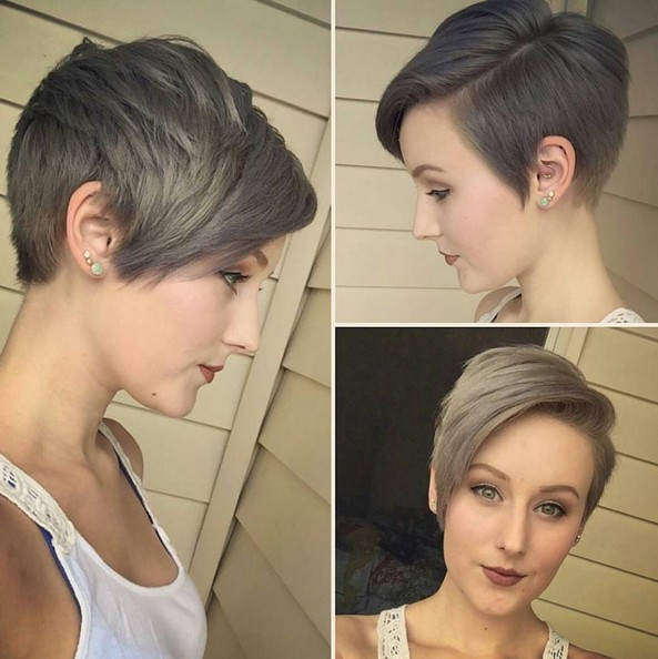 Chic Short Hairstyle with Side Bangs - Summer Haircuts 2016