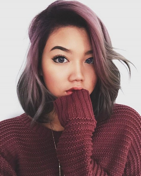 Cute Reddish Pink and Gray - Balayage Hair Styles