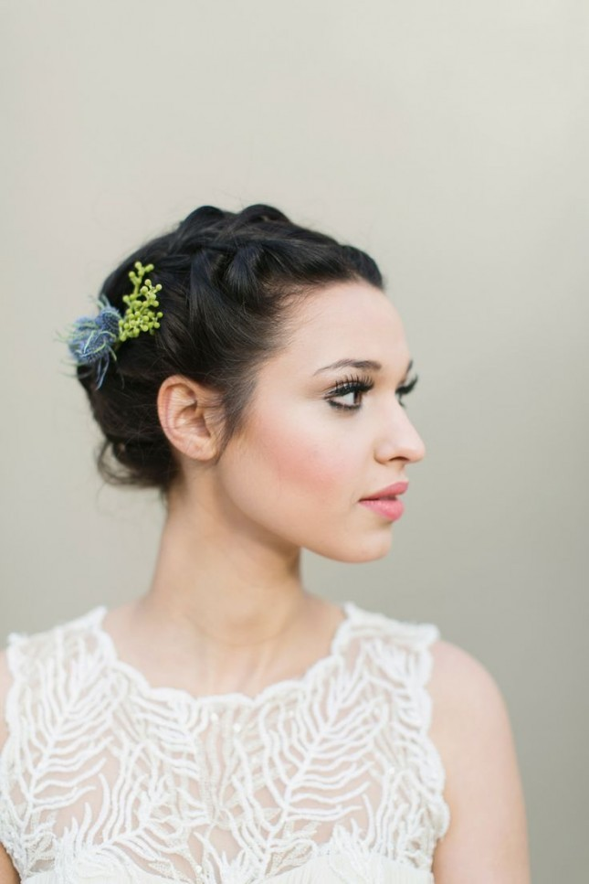 wedding hair short styles 23 hairstyles for weddings hairstyle 5783 | French Braid and Some Bobby Pins