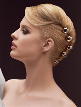 French Twist Wedding Hairstyle for Short Hair