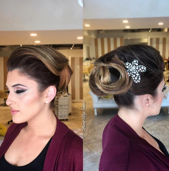 Gorgeous Bride Updo Hairstyle Ideas for Short Hair