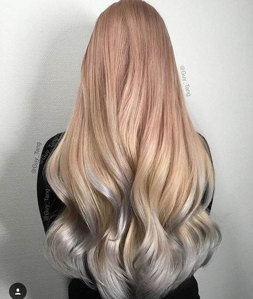 Long Hairstyles Two Colors Hair