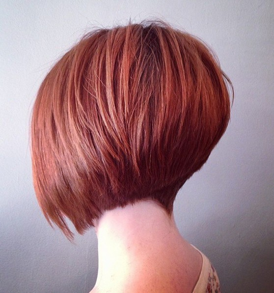 Graduated Short Bob Haircuts with Red Hair