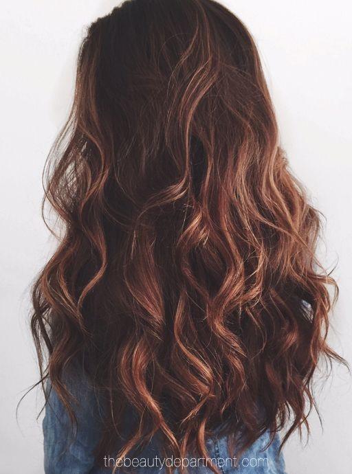 Beste frische Haarfarbe Ideen für dunkles Haar
